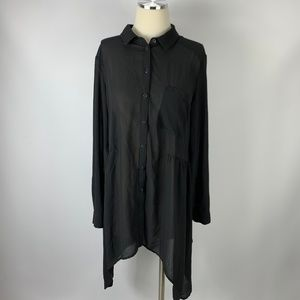 Kimchi Blue Large Black Dress Semi Sheer